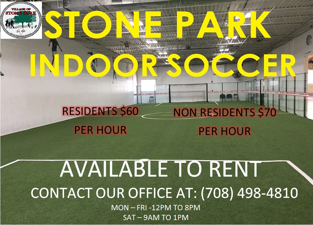 Indoor Soccer Rental Available